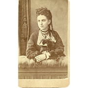 Collectible Vintage CDV Carte de Visite Photograph Beautiful Young Lady