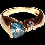 Vintage 14 K Gold Ladies Ring Size 6.5 Unique Design