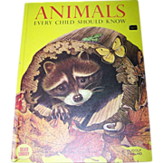 "Over Sized Children's Book ""Animals Every Child Should Know """