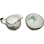 Charming Vintage Aynsley Small Creamer Sugar Marine Rose