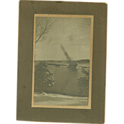 Cabinet Card Photo A.W. Chisholm Schooner Stranded on Clam Island Nova Scotia