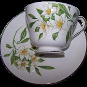 Pretty Vintage Shelley Fine Bone China Tea Cup Saucer Set Floral Syringa