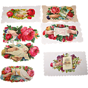 Lot Die Cut Victorian Era Calling Cards and Scrap Book Stickers  Hand Themed