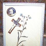 Framed Sentimental Memento Mori Remembrance   Display
