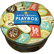 Vintage Peek Frean's Play Box Advertising Cookie Tin Can