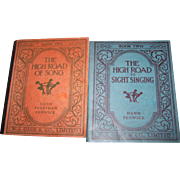 """Two Music Books """" Book Two The High Road Of Song  """"  and """" The High Road To Sight Singing """""""