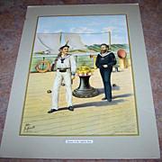 SALE Vintage  Print Werner Co Seaman of the Imperial Navy