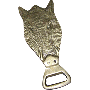 Barware Collectible Solid Brass Hog Boar Pig Bottle Opener