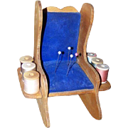 Rocking Chair Pin Cushion Handmade Spool Holder Caddy Vintage