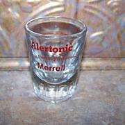 Vintage Merrell Alertonic Advertising Medicine Glass