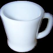 Fire-King Oven  Ware White Milk Glass D Handle Mug