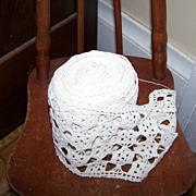 SALE A Beautiful Roll of Vintage lace Crochet Style