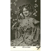Real B&W Photograph Pretty Lady  Star Stage  Theater Actress  Miss Alice Russon