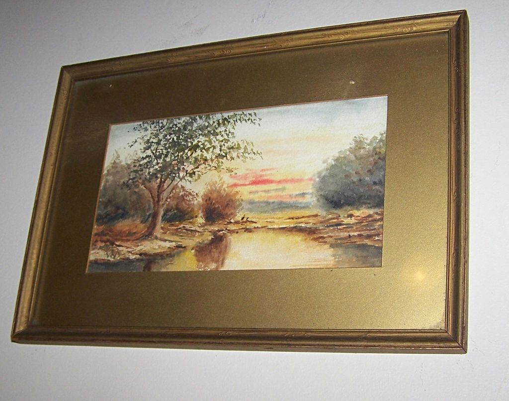 Amazing Vintage Scenic  Water Color Painting