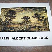 "Vintage Soft Cover Booklet "" Ralph Albert Blakelock "" C. 1987"