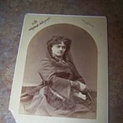 A Unique Vintage Portrait Photograph With Original Autograph