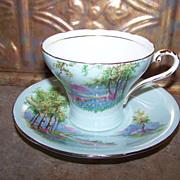 Scenic Vintage Aynsley  Tea Cup & Saucer