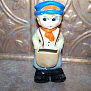 Vintage Ceramic Novelty Figural Toothbrush Holder MIJ