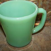 SALE PENDING Vintage Oven Ware Green Jadeite Green Glass Mug