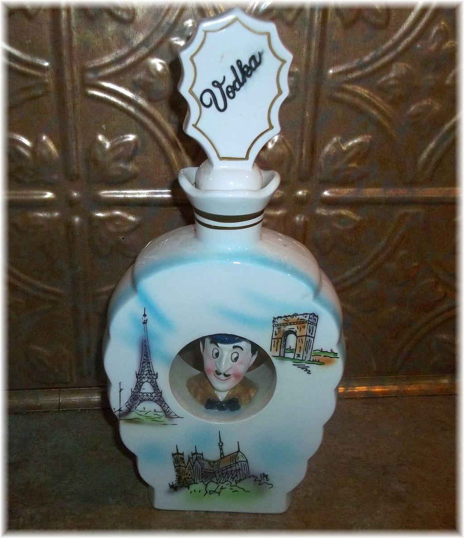 Vintage Novelty Ceramic Liquor Decanter  Bottle VODKA