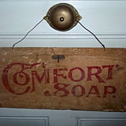 Vintage  Advertising Soap Crate Sign For COMFORT SOAP