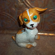 Charming Porcelain Puppy Dog Pin Cushion Figural