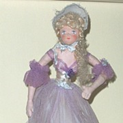 Vintage Souvenir  Casa Carioca Cloth Doll on Stand