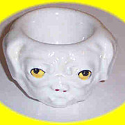 Vintage Ceramic British Bull Dog Egg Cup