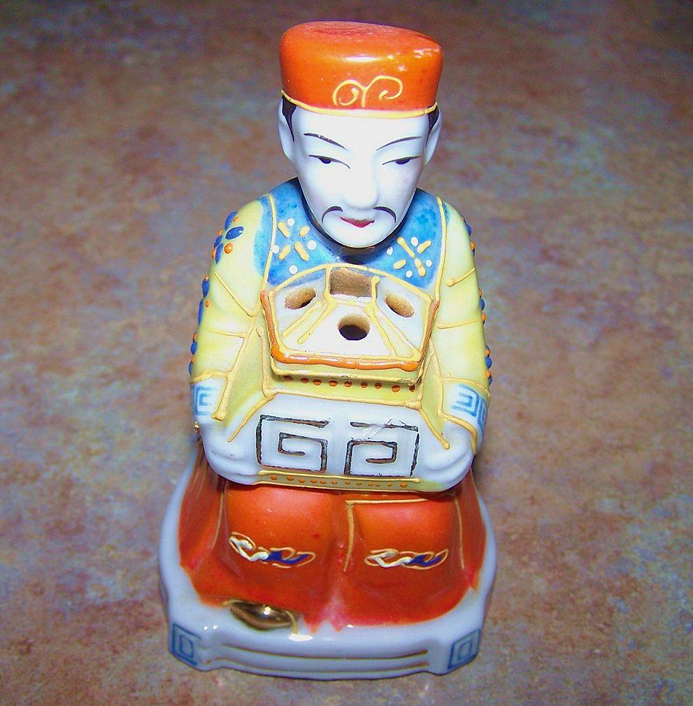 Trimont Ware Satsuma Style Oriental Man Incense Burner