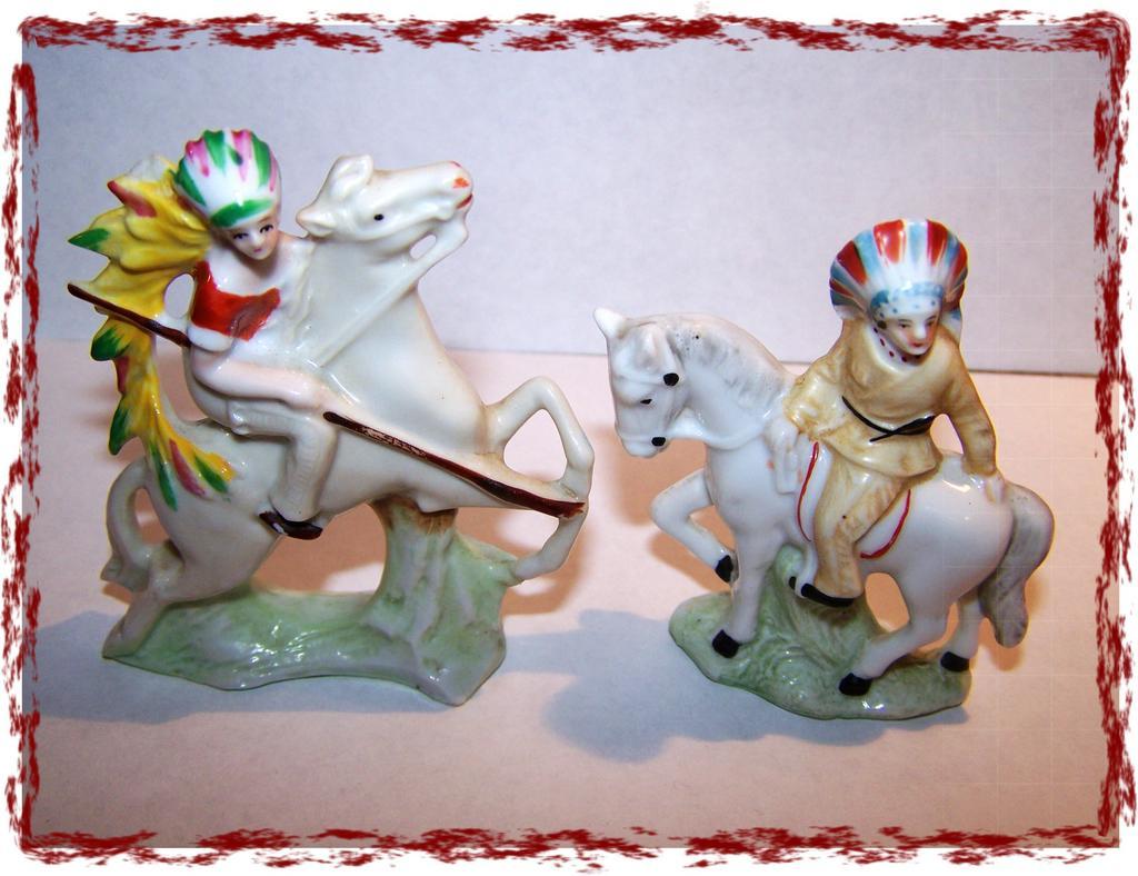 Germany Native Americana Porcelain Figurines Miniature