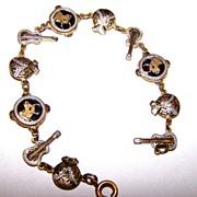 Delicate Damascus Linked Charm Style Bracelet