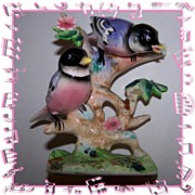 Collectible Vintage Chickadee Bird Figurine Japan