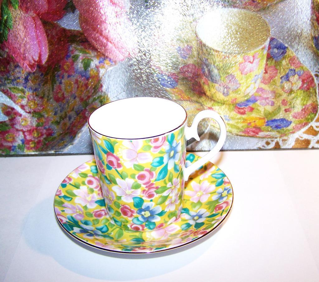 Cocoa Cup Demitasse Chintz Royal Albert  SERENADE