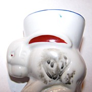 Figural Ceramic Bunny Rabbit Egg Cup MIJ