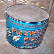 "Vintage Advertising Coffee Tin Maxwell House ""Good to the Last Drop"""