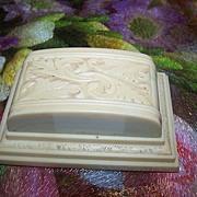 Decorative Deco Era Celluloid Double Ring Box
