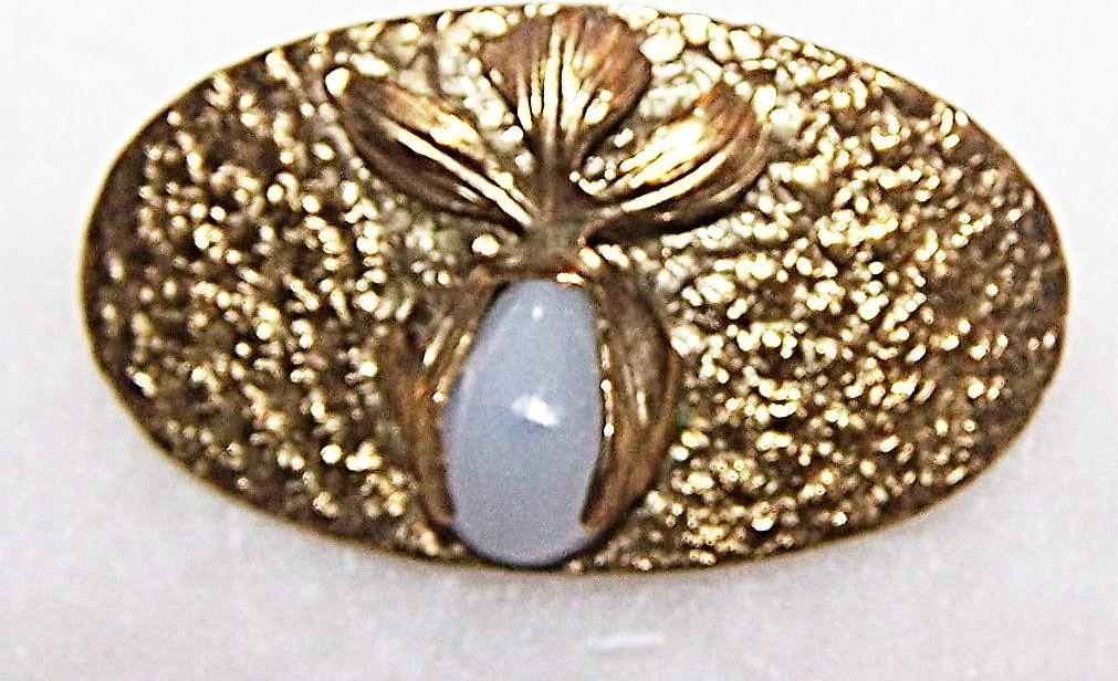 Interesting Arts & Crafts Era Organic Style Clambroth Pin Stamped R.N C.O.