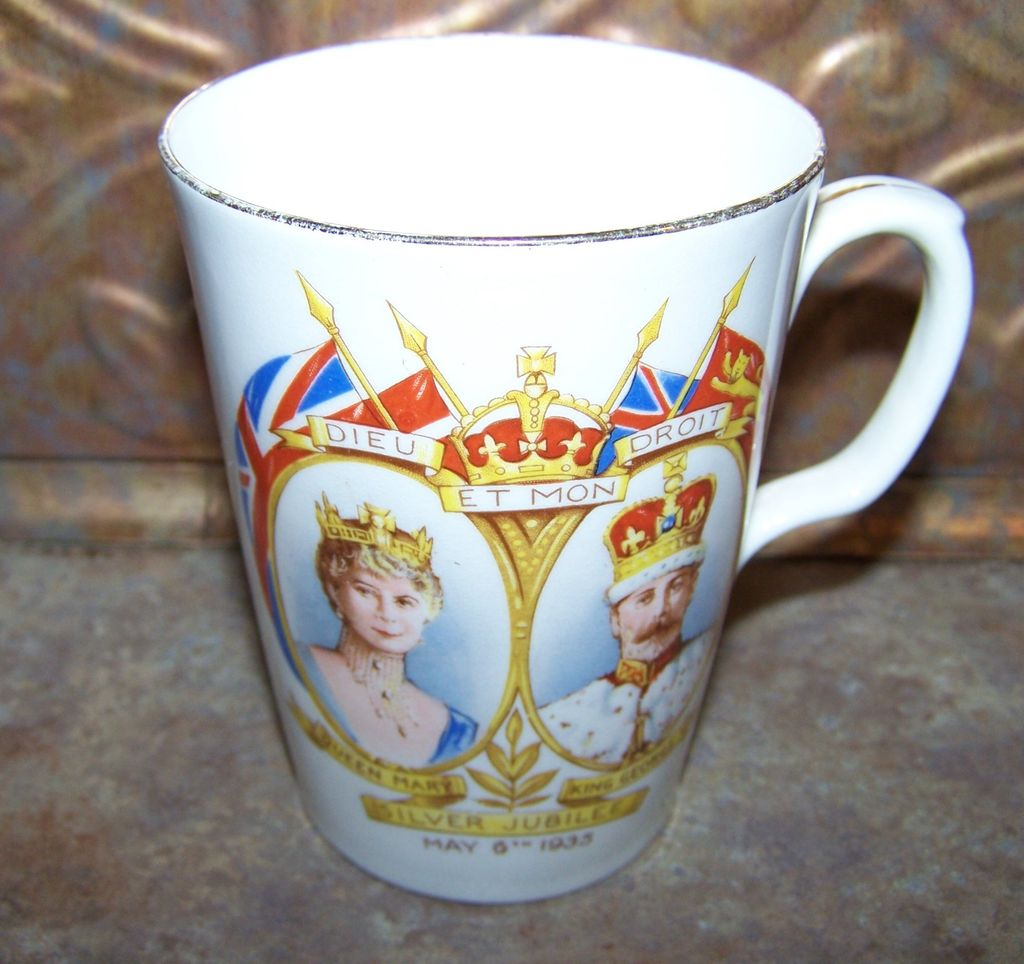 Sampson & Smith Silver Jubilee Royalty Mug 1935 Queen Mary King George V
