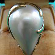 14K YG Cultured Mabe Pearl Ring