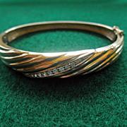 14K Yellow Gold & Diamonds Bangle Bracelet