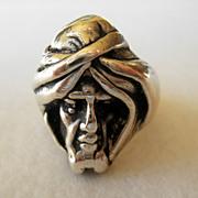 Vintage Sterling Man's Sultan Ring