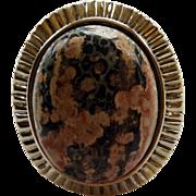 Huge Sterling & Agate Ring