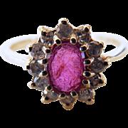 14 Karat Ruby & Diamond Ring
