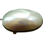 Napoleon III Mother of Pearl Thimble or Rosary Case