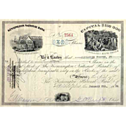 1934 Kensington National Bank Stock Certificate – Fantastic Vignettes