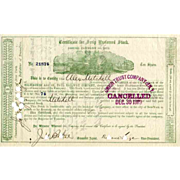 SALE 1873 Milwaukee & St Paul RW Scrip Stock Certificate  signed by Russell Sage