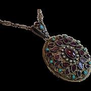 Antique Austro - Hungarian Jeweled Locket