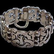 Vintage,  Signed ROSI Mexican Sterling Bracelet With Eagle Mark