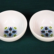 Fire King Swiss Alpine Chalet Cereal Chili Bowls Set of 2