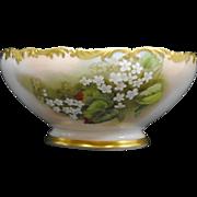 Antique Limoges Hand Painted Tressemann and Vogt Porcelain Fruit Bowl